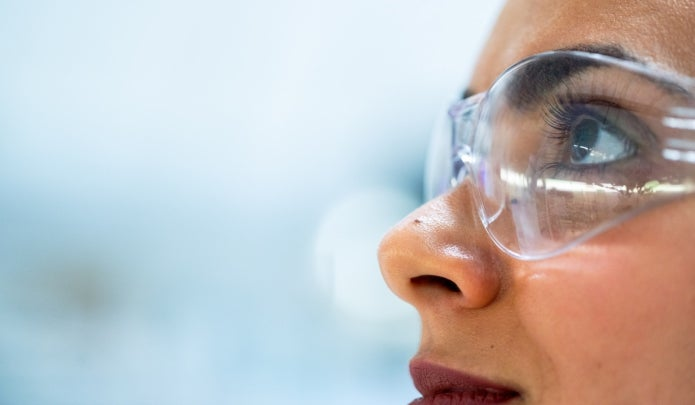 woman in research lab